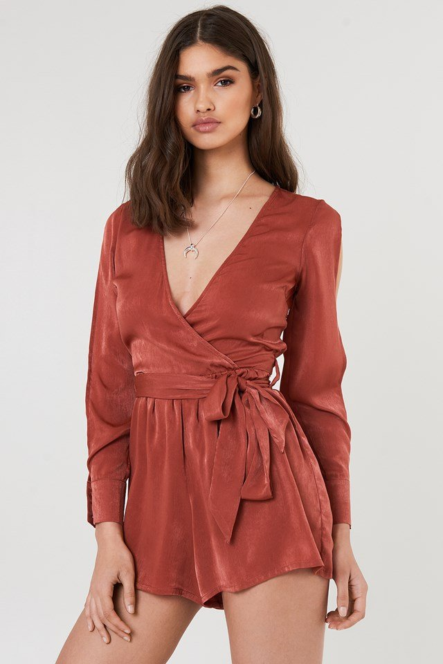 Kade Playsuit Rust