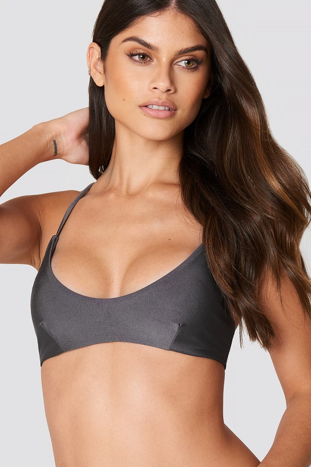 Blake Bikini Top Dark Grey
