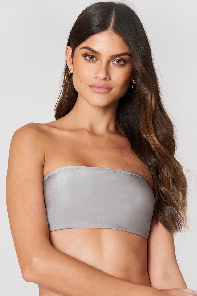 Elijah Bikini Top Light Grey