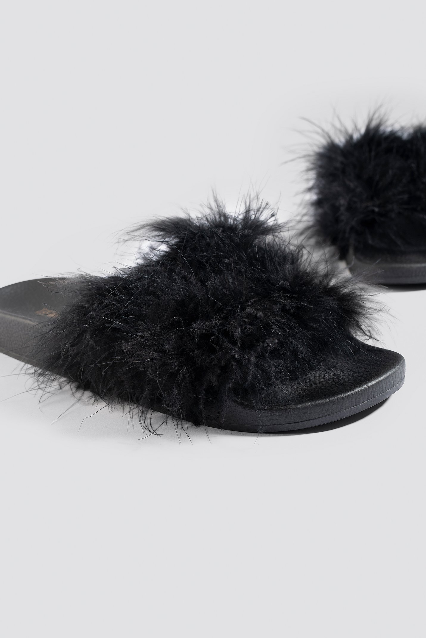 Feathers Slippers NA-KD.COM