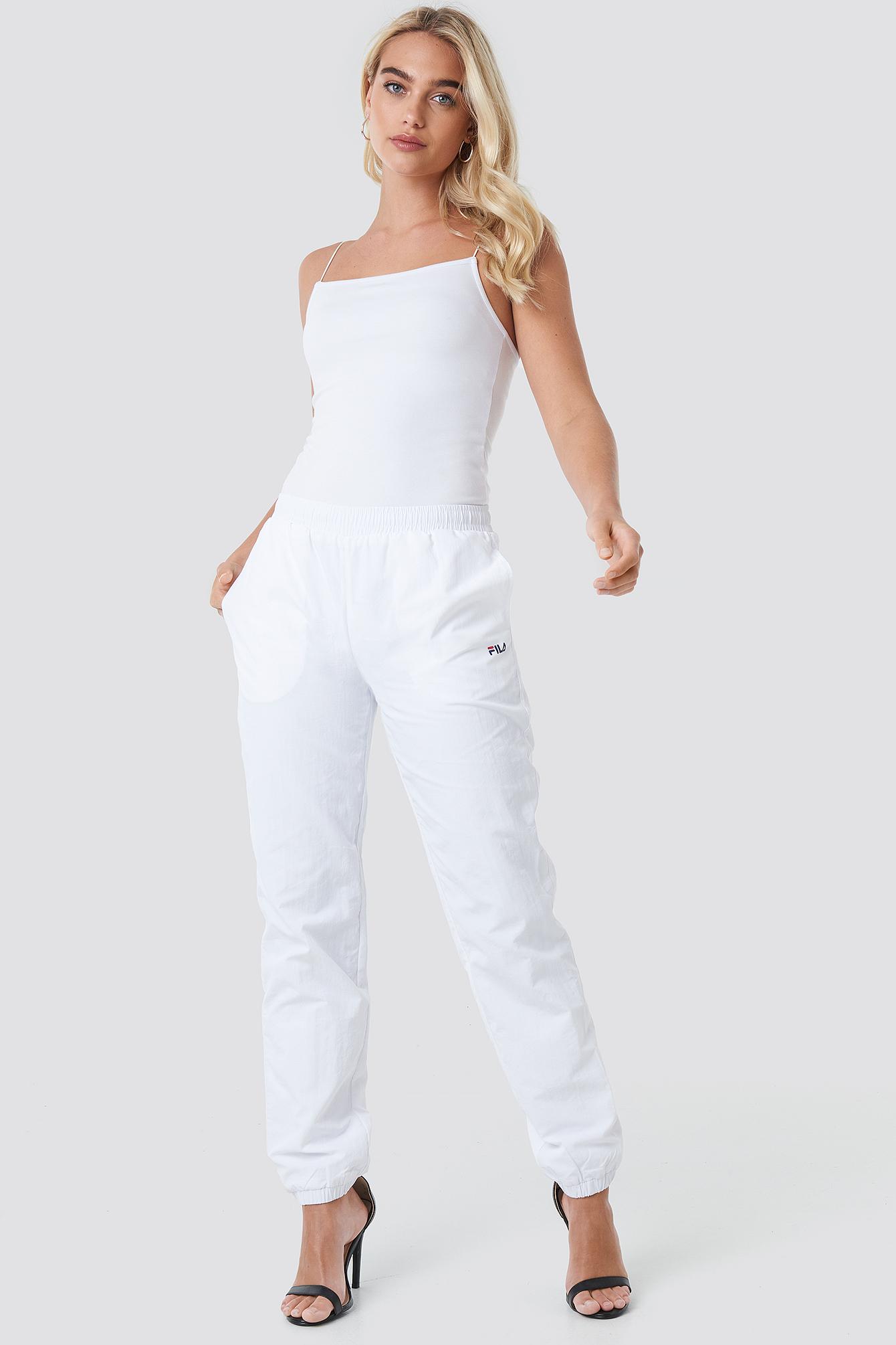 fila -  Alma Woven Pants - White