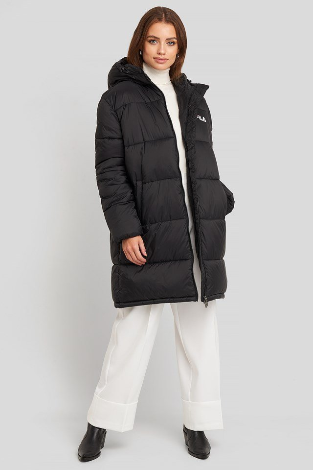 Bronwen Puff Hood Jacket Black