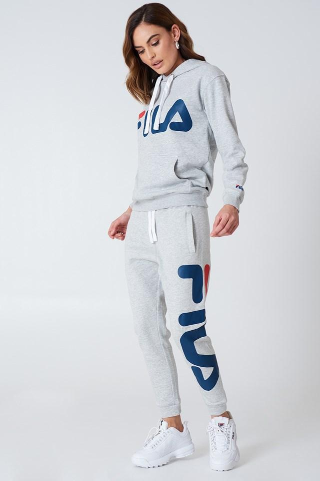 Klasyczne spodnie dresowe basic Light Grey Melange Bros