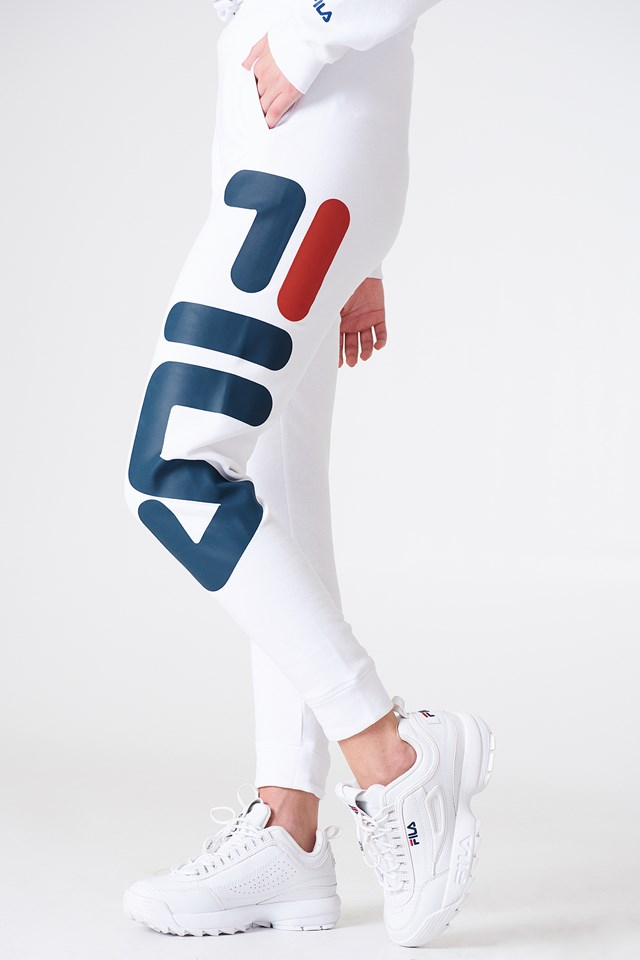 Klasyczne spodnie dresowe basic Bright White