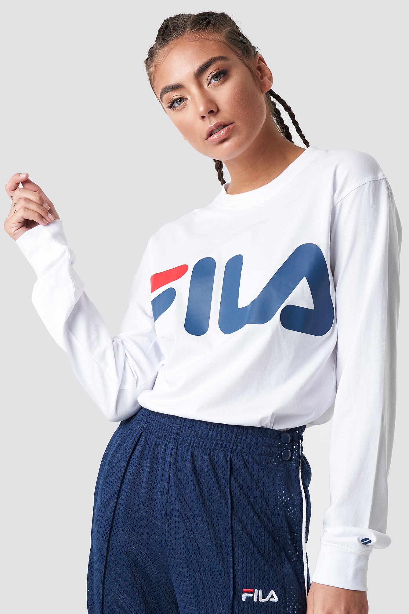 T-shirt z długim rękawem Classic Logo NA-KD.COM