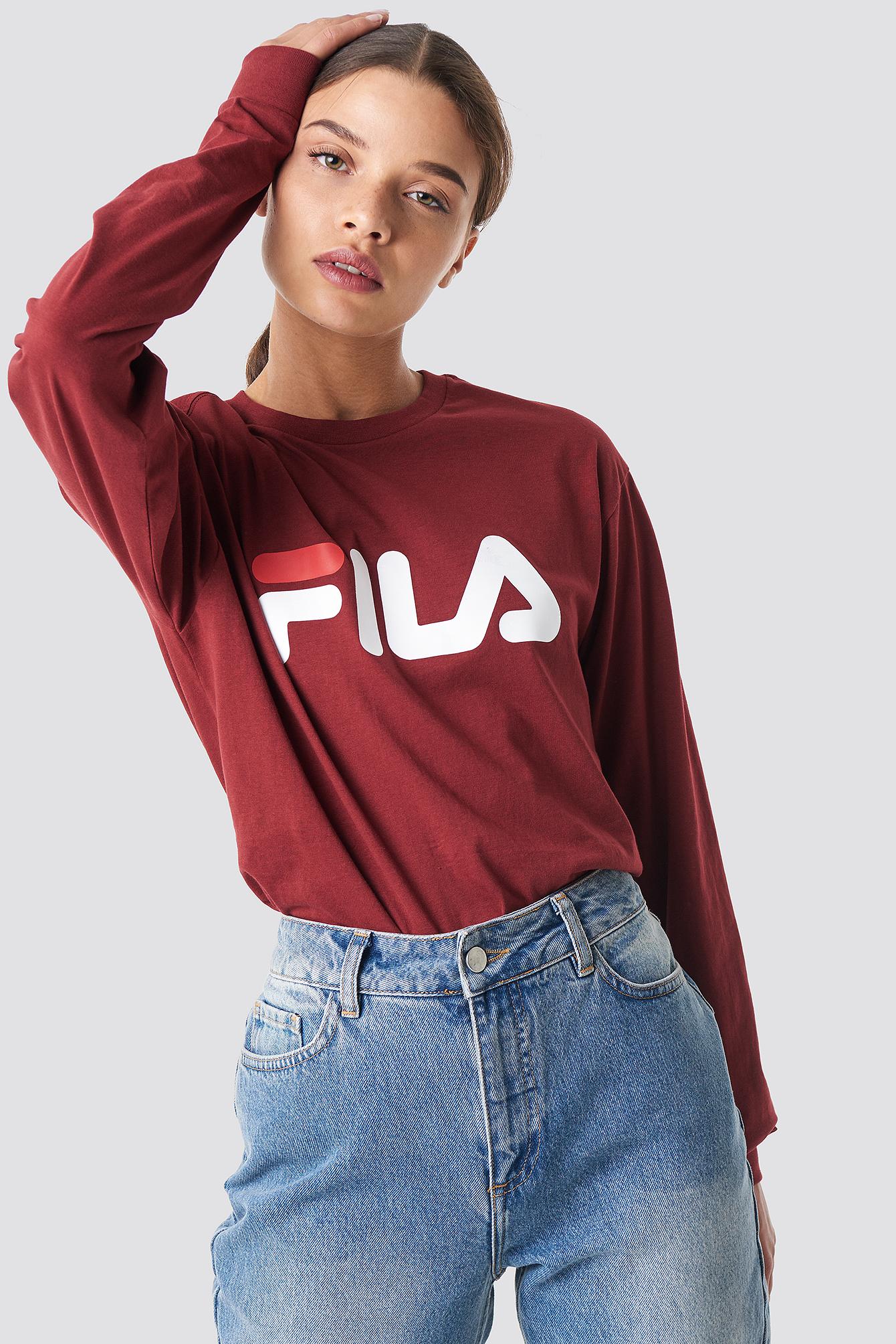 fila -  Classic Pure Long Sleeve Shirt - Red