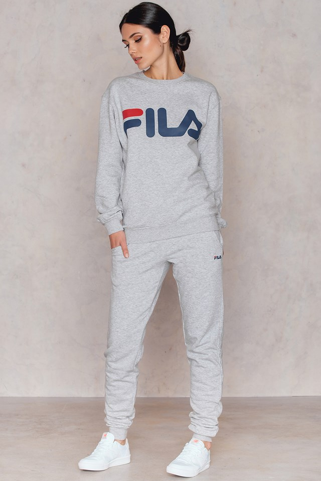 Classic Slim Sweatpants Light Grey Melange