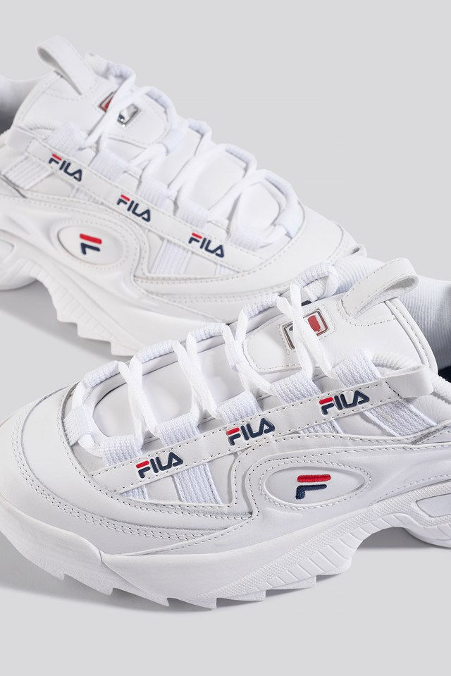 D-Formation Wmn Sneaker White/Navy/Red