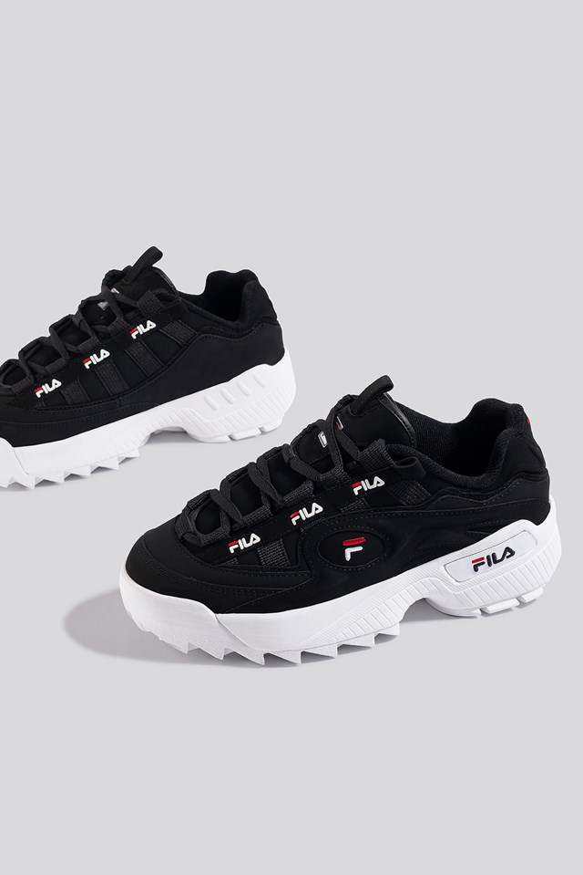 D-Formation Wmn Sneaker Black/White/Red