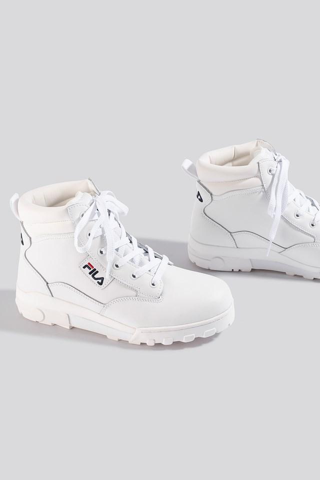 Grunge L Mid Wmn Boot White
