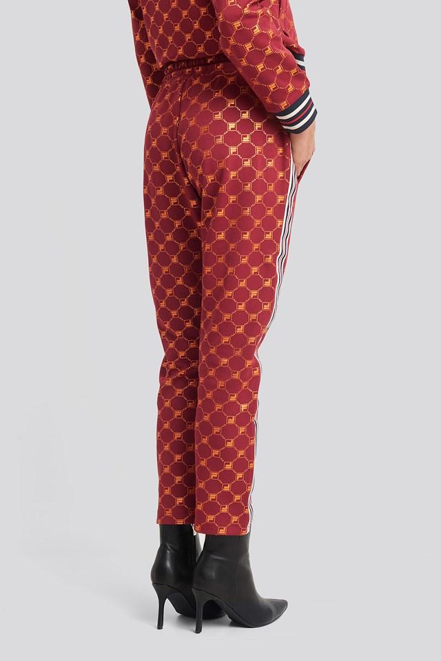 Gvantsa Cropped Pants Rhubarb/Mandarin Aop