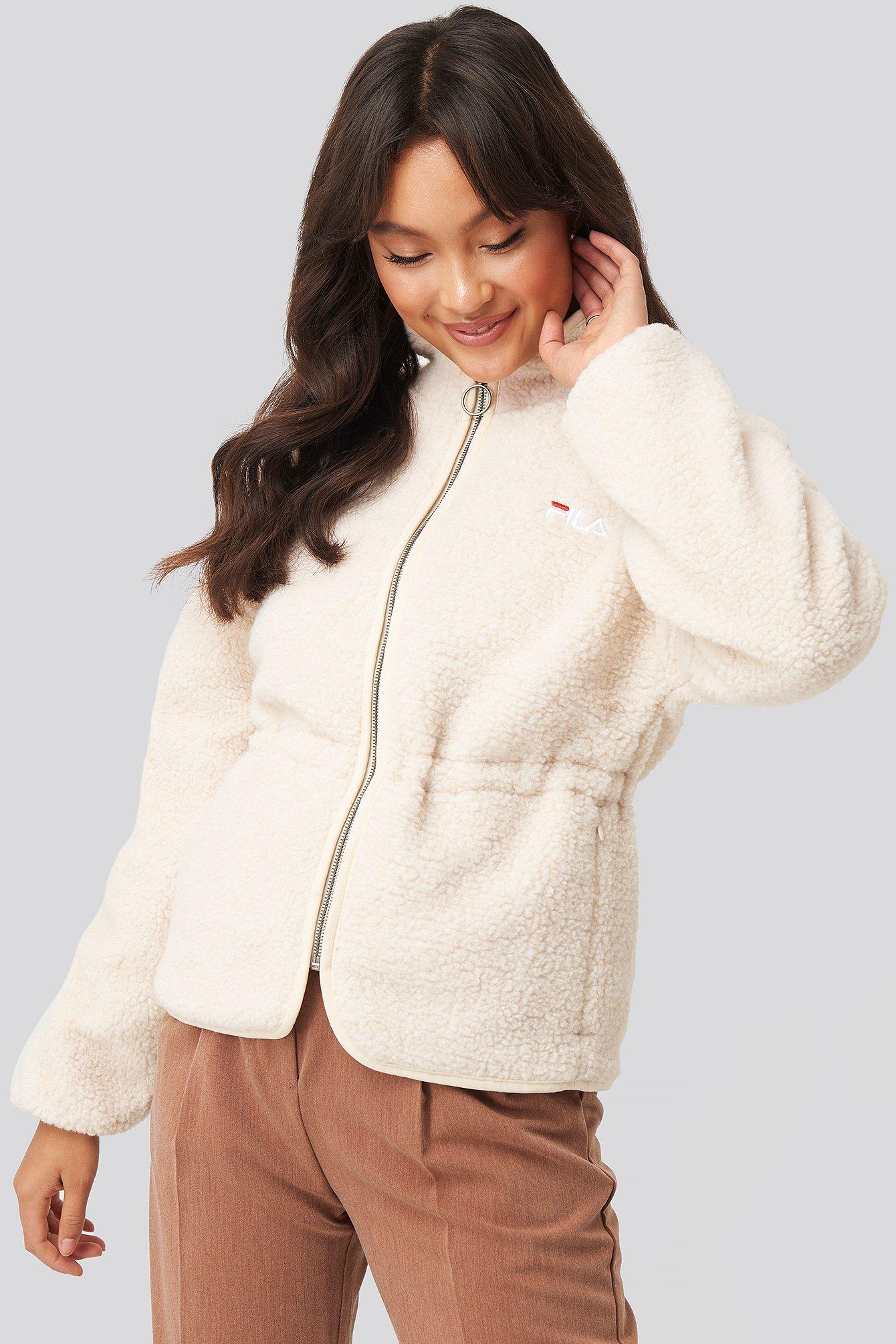 Fila Jackets Hajar Sherpa Fleece Jacket White