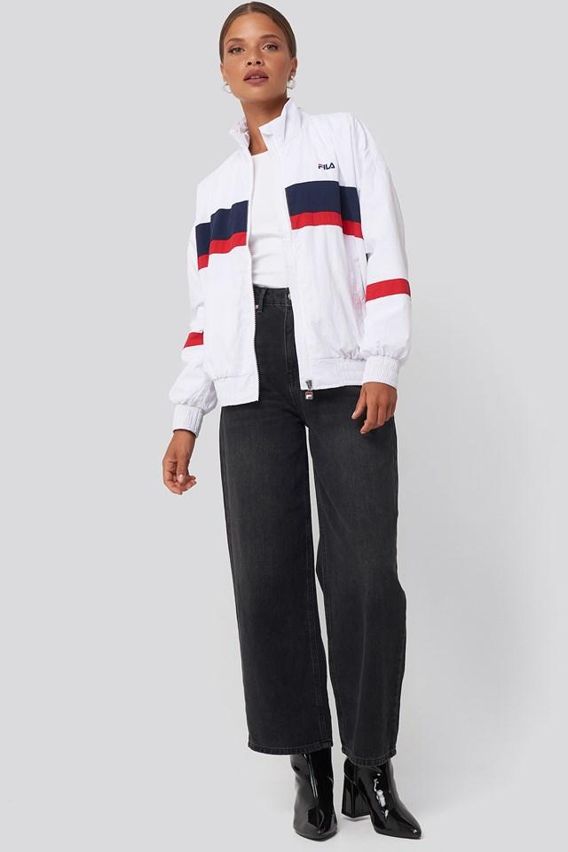 Kaya Wind Jacket Bright White/Black Iris