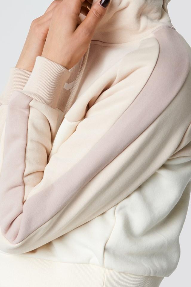 Landers Hooded Sweat Pink Tint/Eggnog/Mushroom