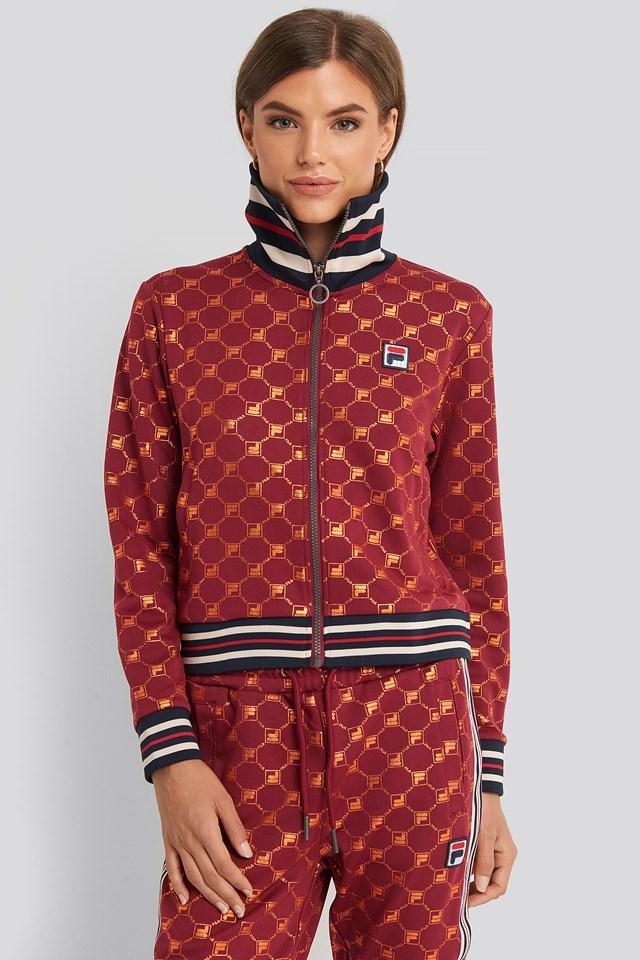 Lerdidwen Track Jacket Rhubarb/Mandarin Aop