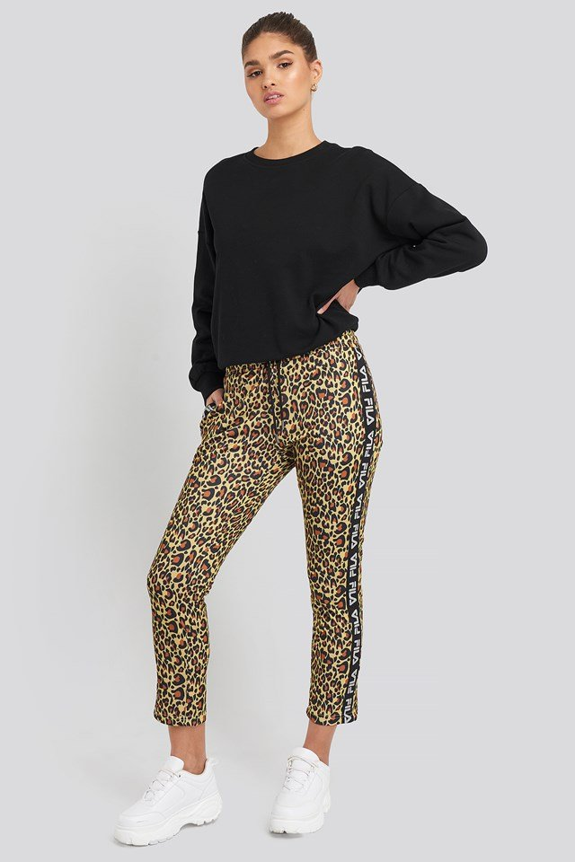 Paniz Cropped Pants Leo Aop