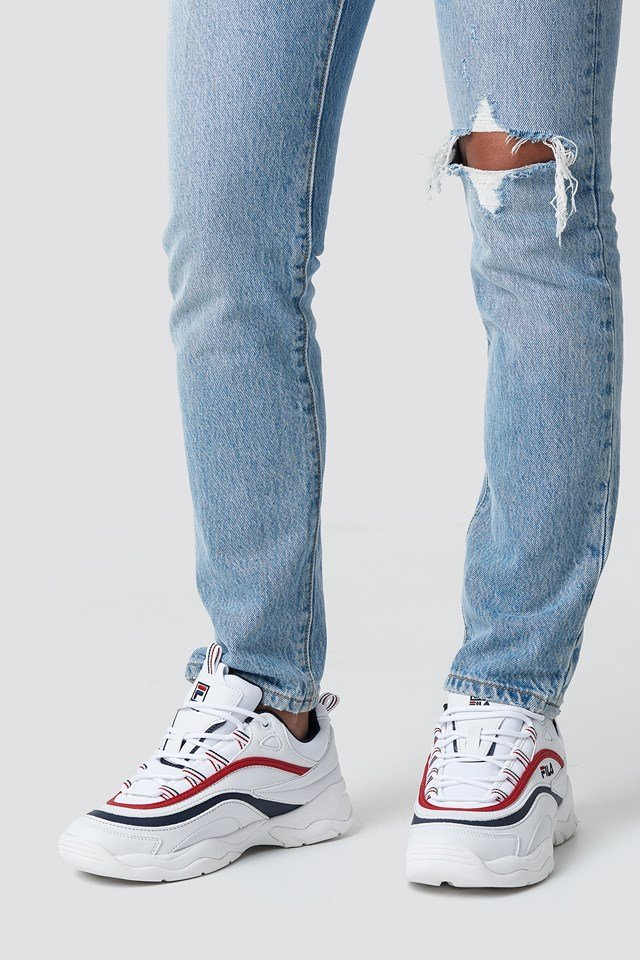 Ray Low Wmn Sneaker White/Navy/Red