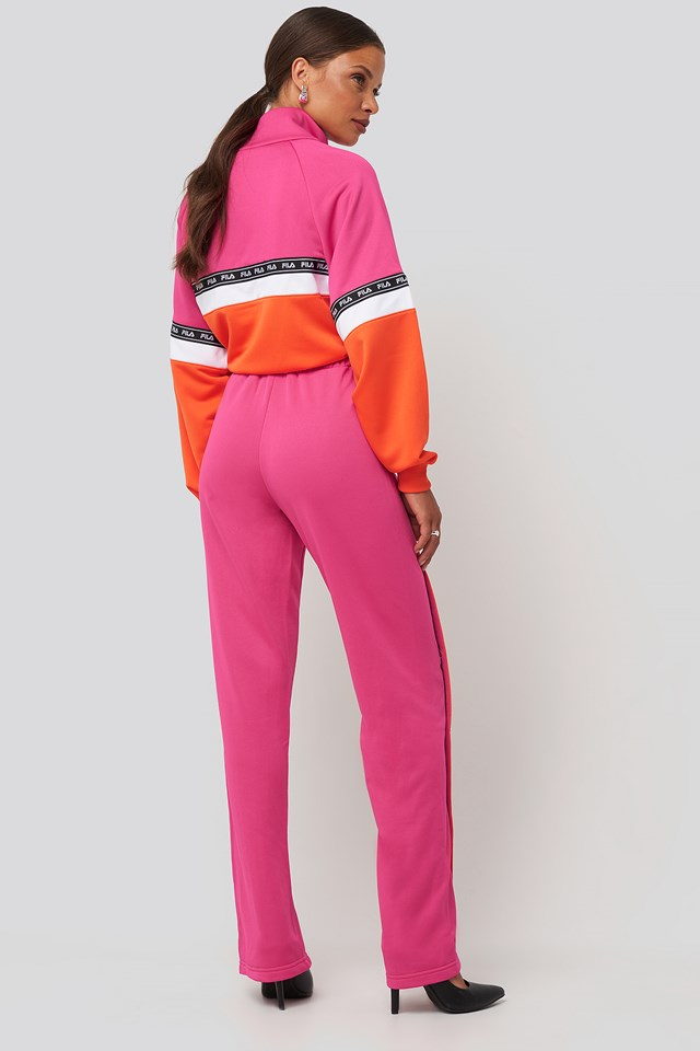 Sachika Track Pants Pink Yarrow/Mandarin Orange