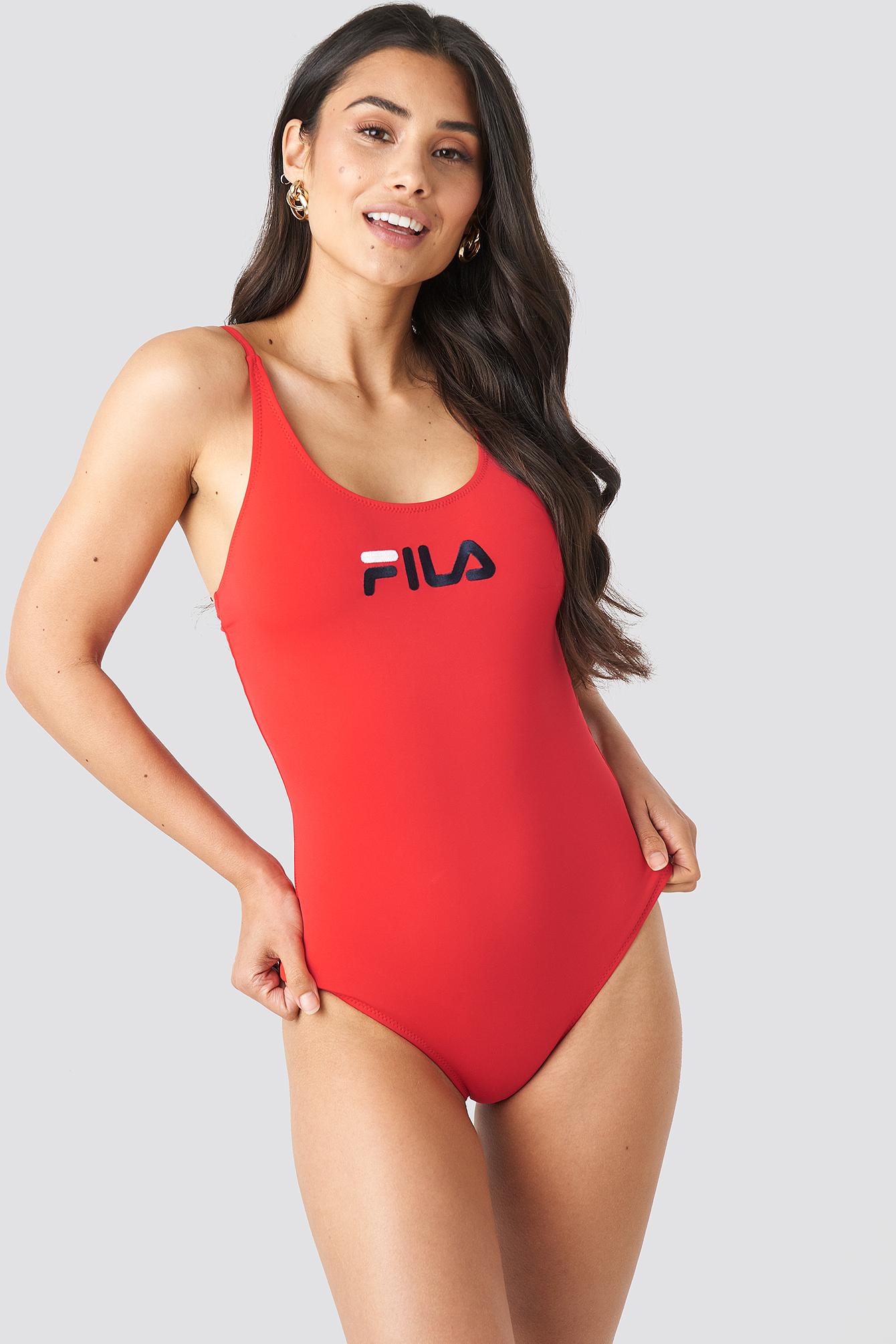 FILA Saidi Swimsuit x NA-KD - Red