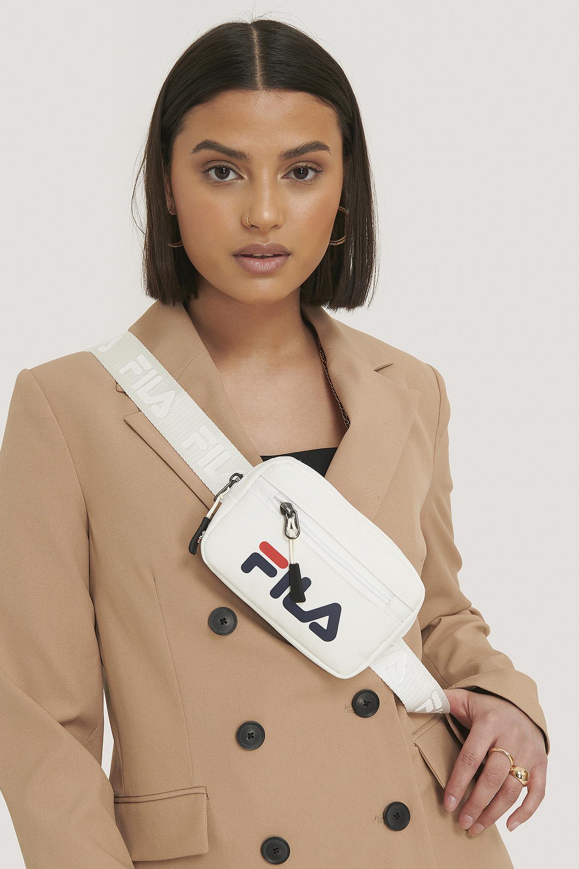 fila -  Riemen-Tasche Mit Logo - White