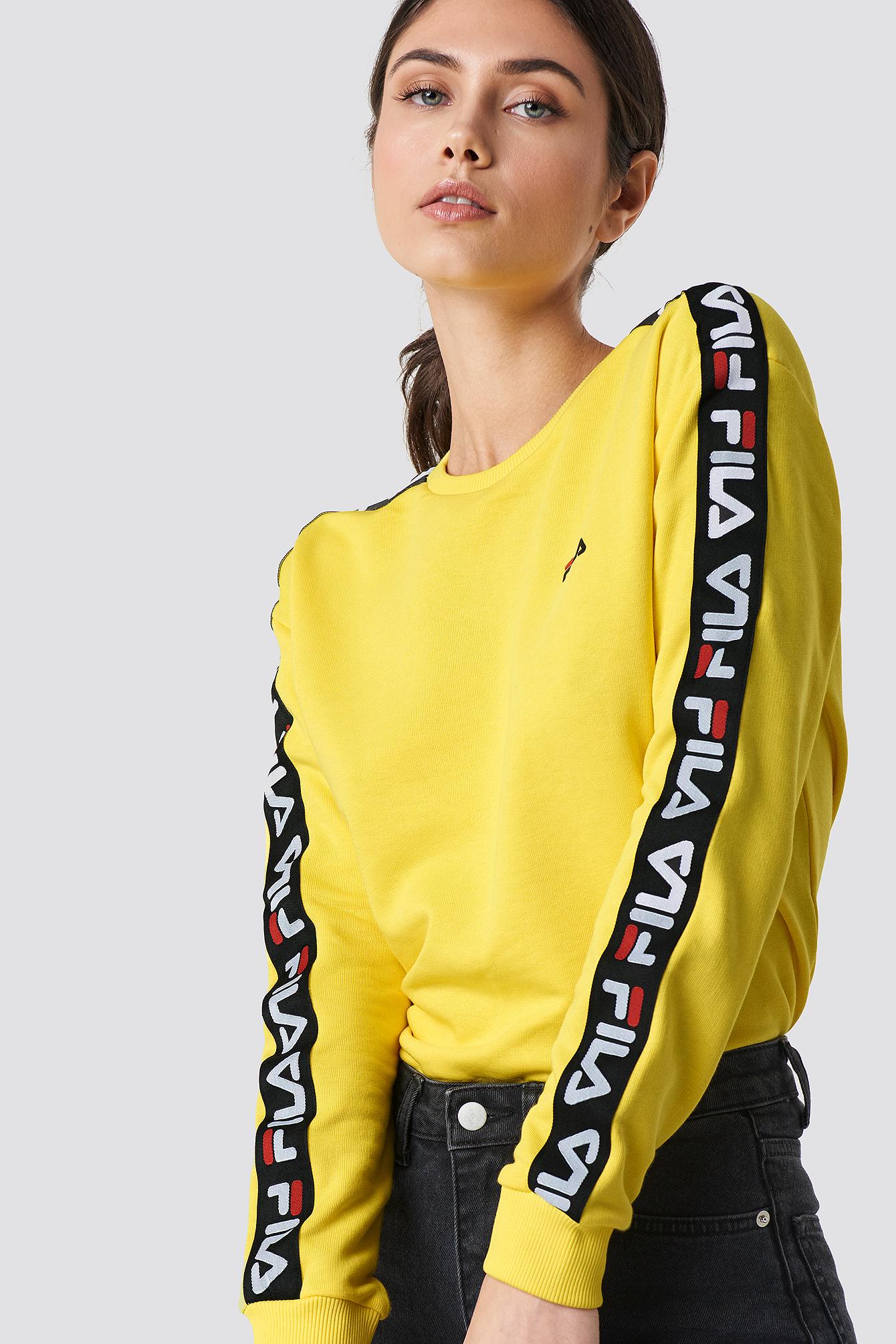 Fila Tivka Crew Sweat - Yellow  9f06684a50