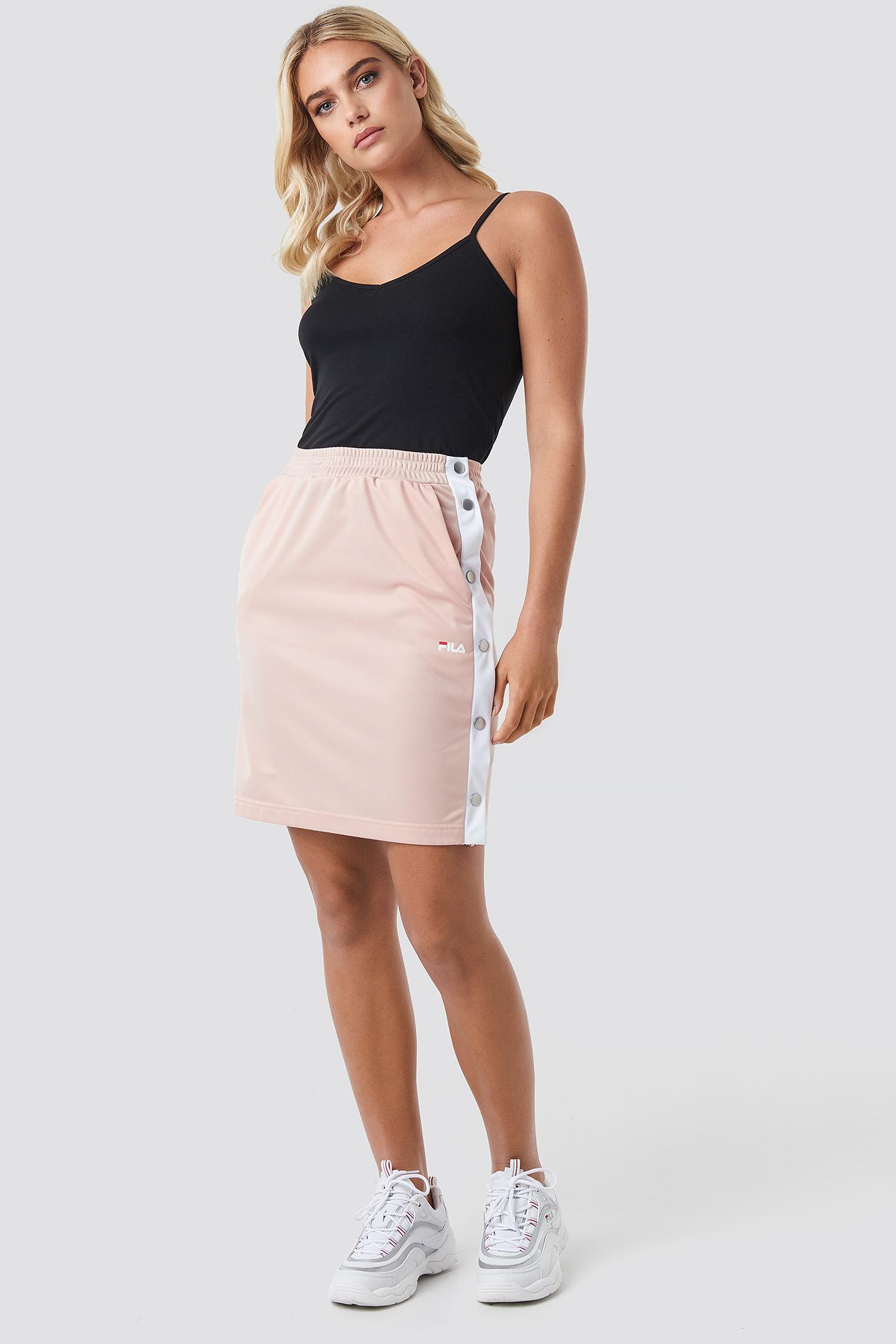 Jenna Buttoned Track Skirt NA-KD.COM