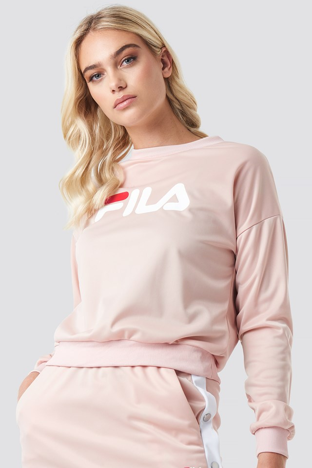 Justyna Buttoned Crew Cameo Rose