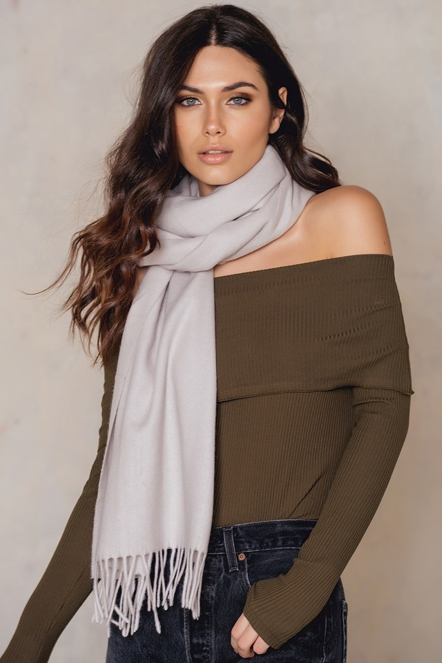 Cashmere Blend Scarf Dove