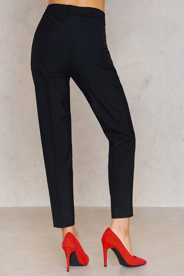 Fiona Peg Trousers Black