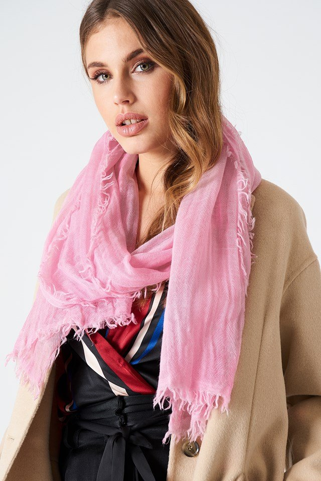 Cold Dyed Wool Scarf Candy