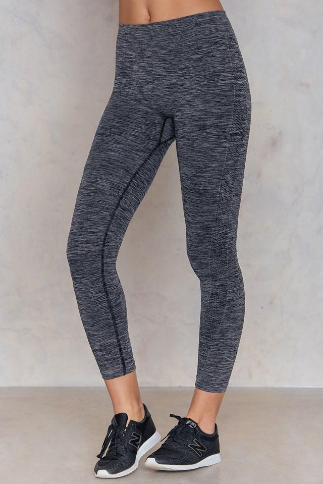 Crop Seamless Leggings Grey Melange