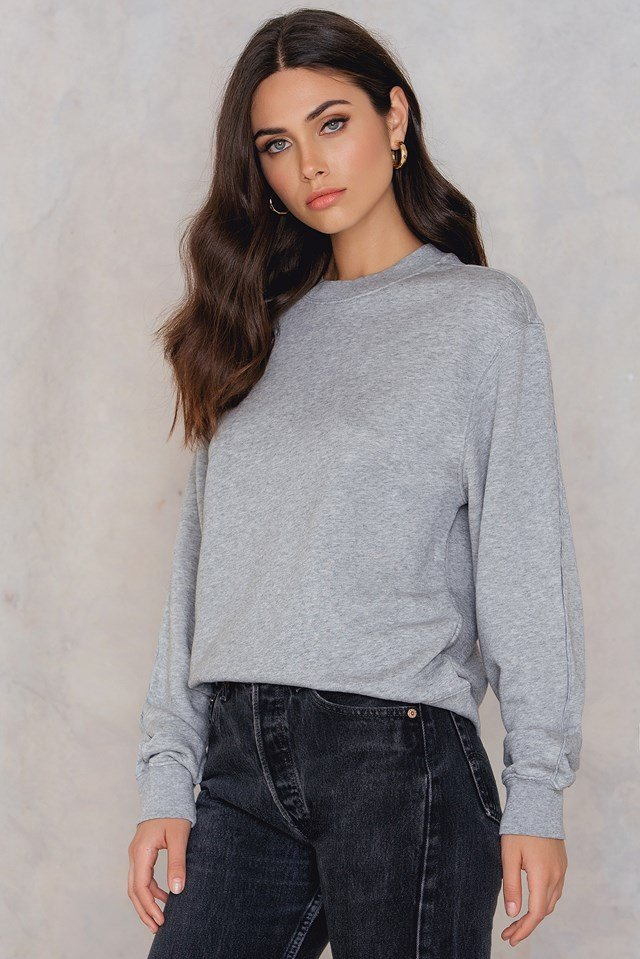 Drapey Sweatshirt Light Grey