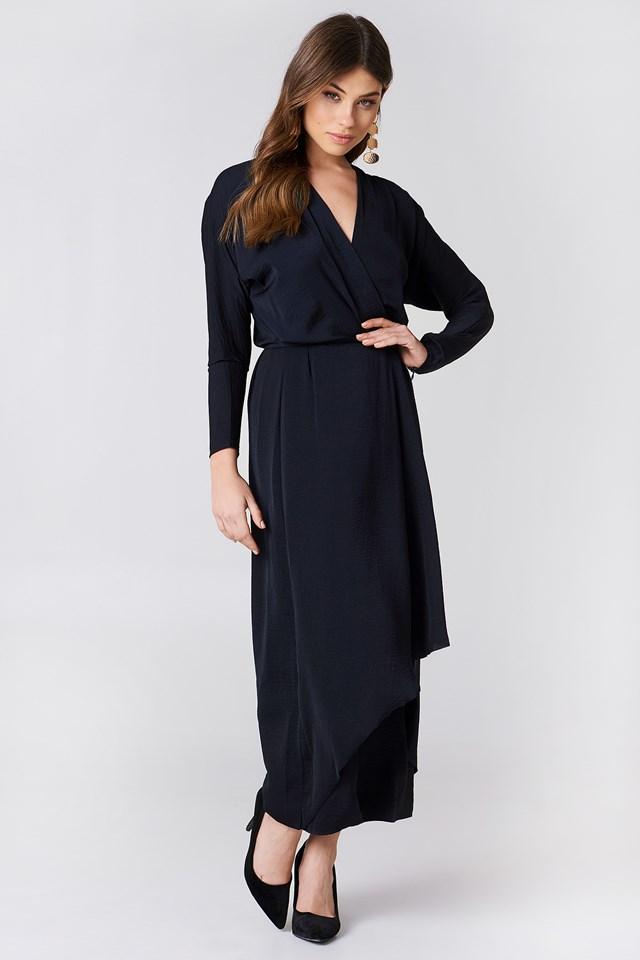 Drapey Wrap Dress NA-KD.COM e77710da6dad