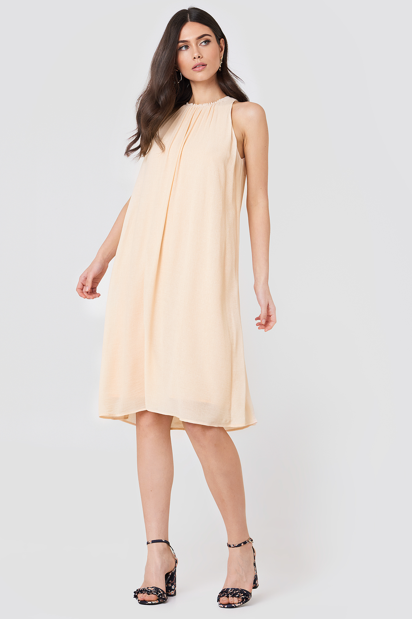 FILIPPA K FLOWY CRINKLE DRESS - ORANGE