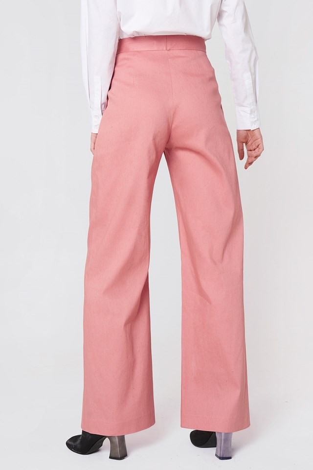 Katie Pleated Trousers Salmon