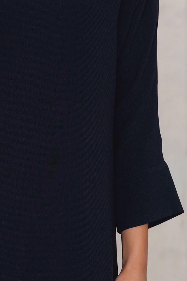 Kimono Sleeve Dress Navy