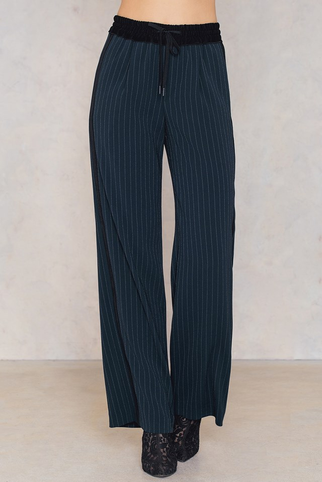 Lynn Stripe Pants Nightsky/Fawn