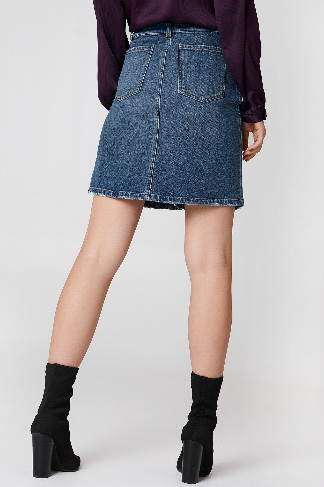 Mid Blue Denim Skirt NA-KD.COM