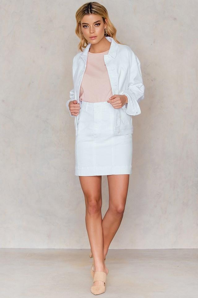 Oversized Denim Jacket White Denim