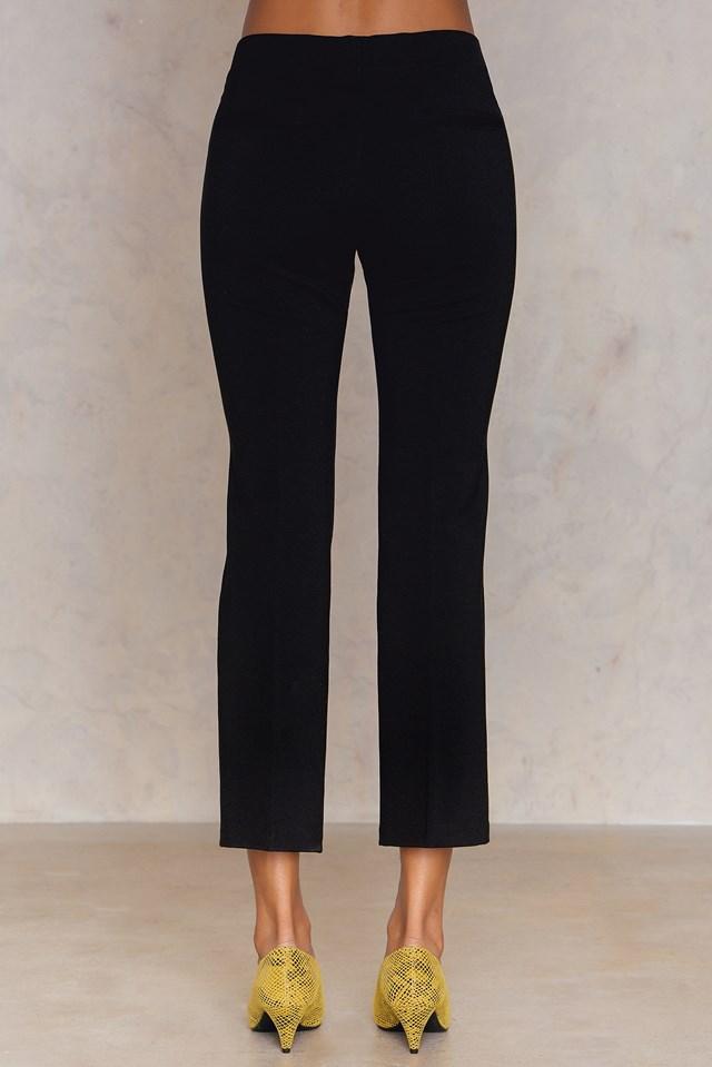 Poe Cropped Jersey Pant Black