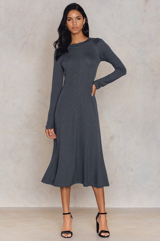 Raglan Sleeve Jersey Dress NA-KD.COM