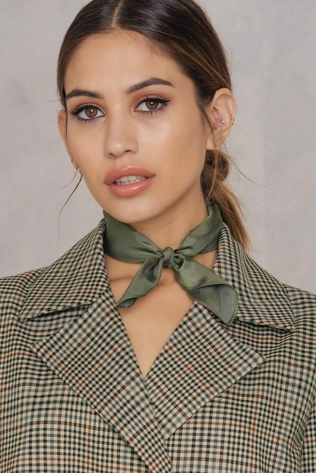 Silk Neckerchief Khaki Green
