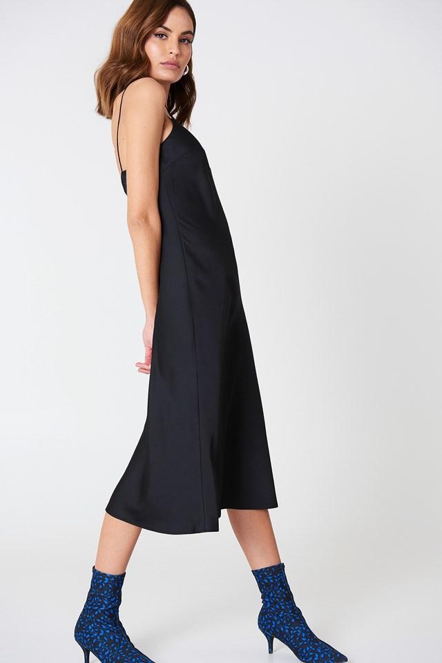 Slinky Slip Dress Black