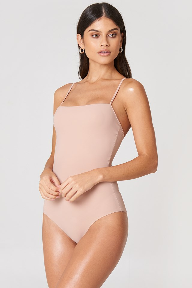 Strap Swimsuit Pale Pink