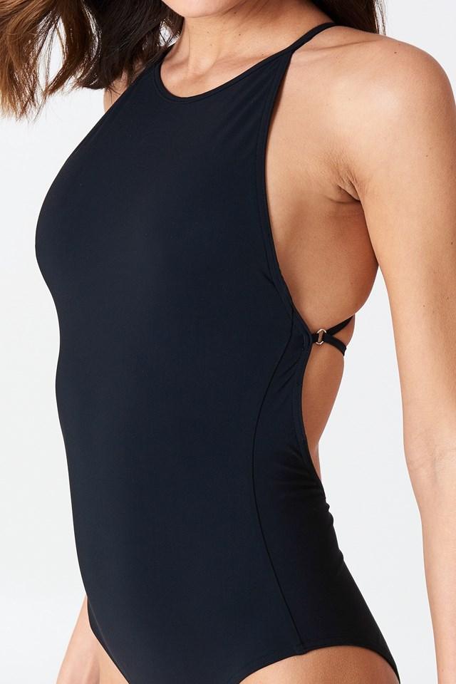 Tie-back Swimsuit Black