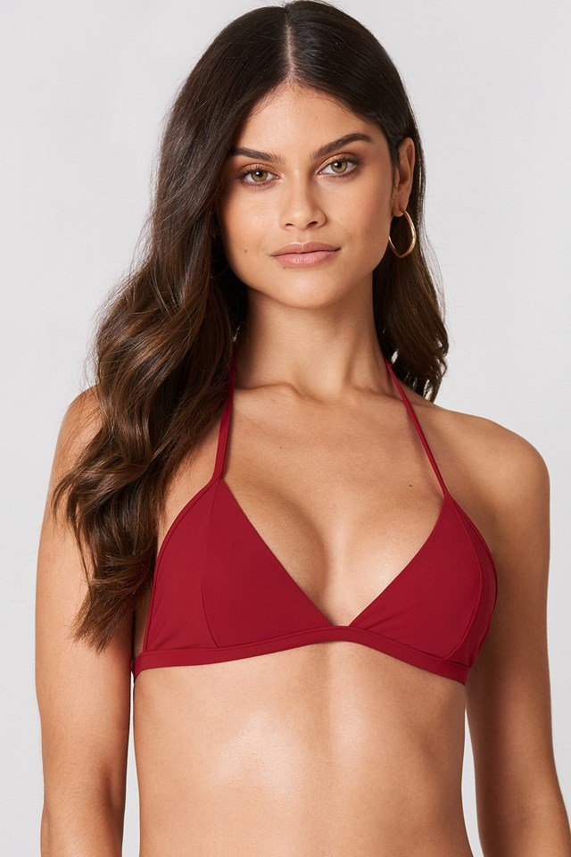 Triangle Bikini Top Rouge