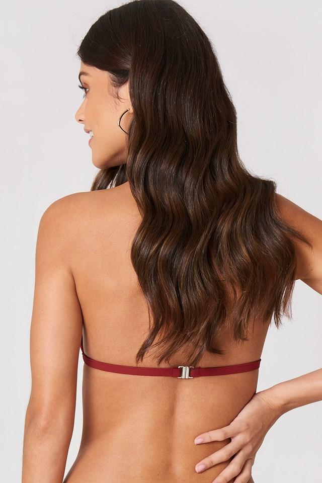Triangle Bikini Top Rouge