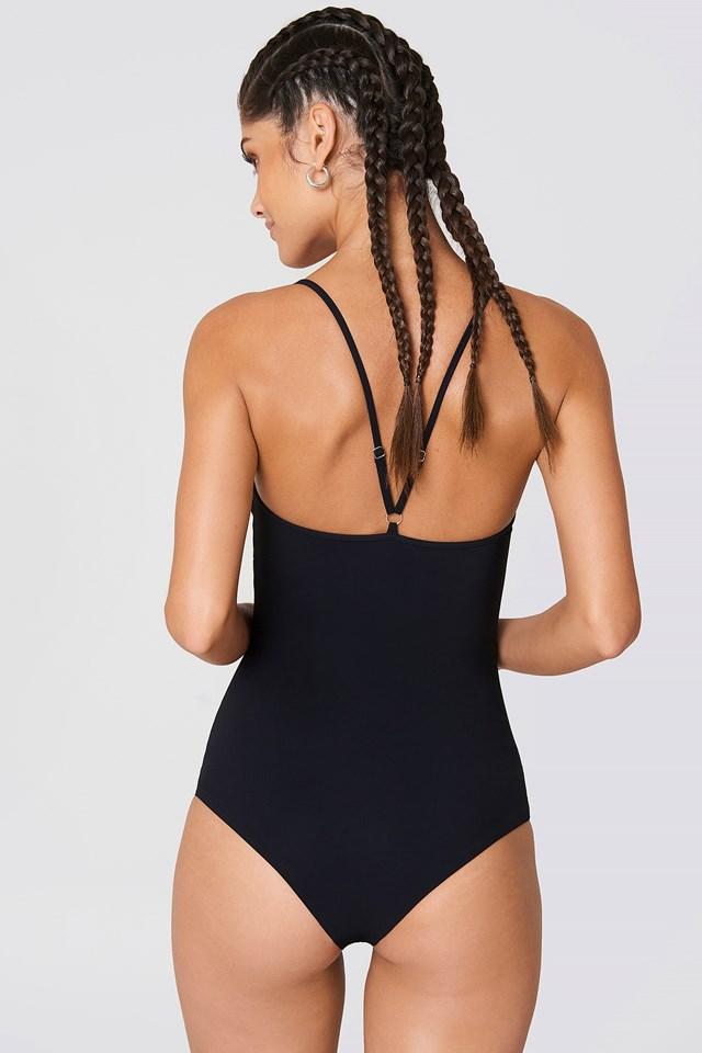 Strap Swimsuit Black