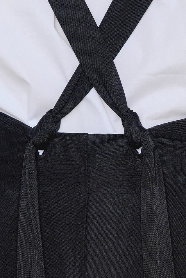 Open Back Dress Black