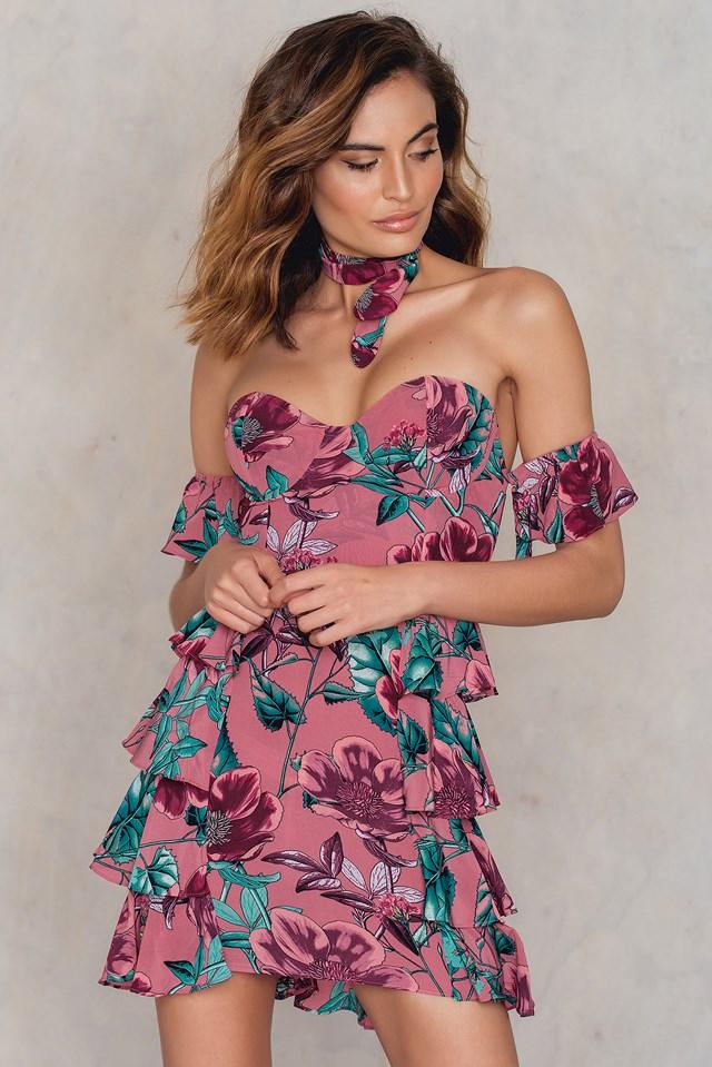 Flamenco Strapless Dress Pink Flamenco